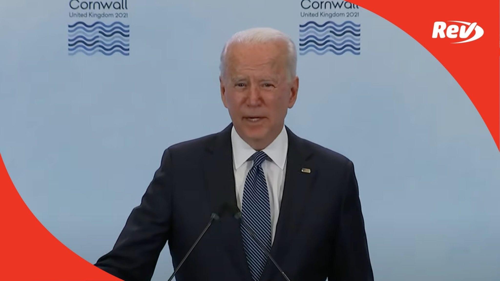 Joe Biden G7 Summit Speech