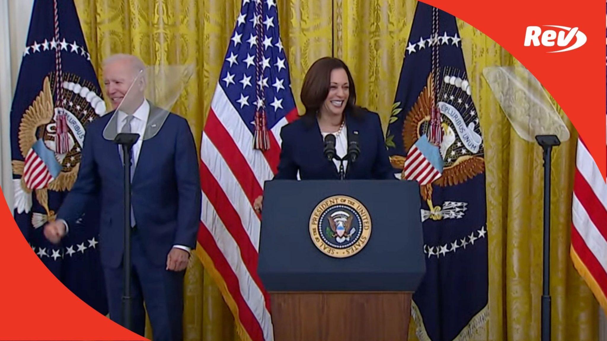 Joe Biden & Kamala Harris Press Conference Juneteenth