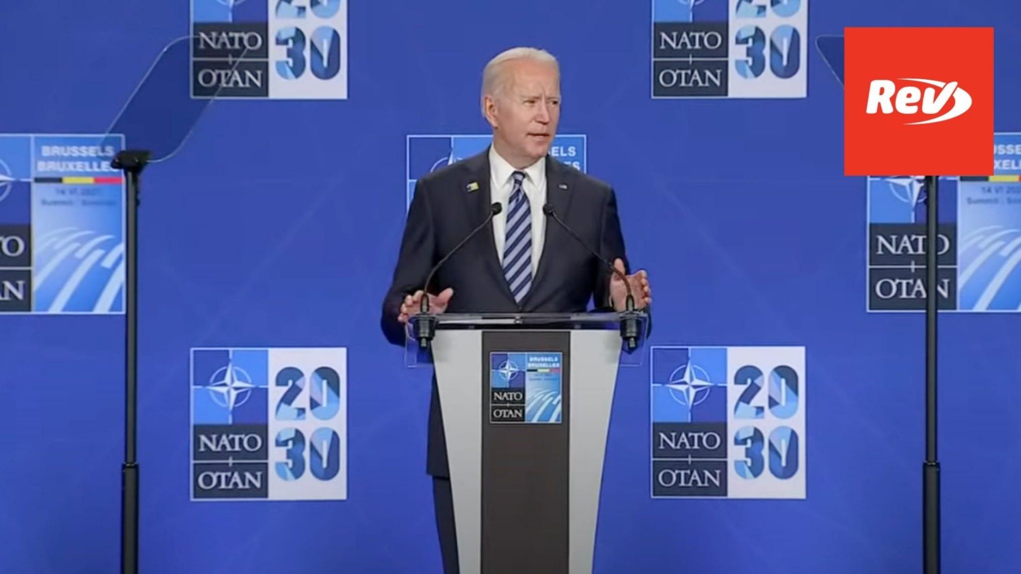 Joe Biden Press Conference Speech at NATO HQ