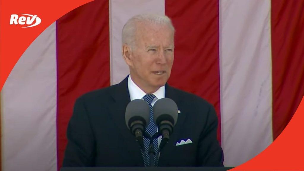 Joe Biden Memorial Day Speech Transcript 2021