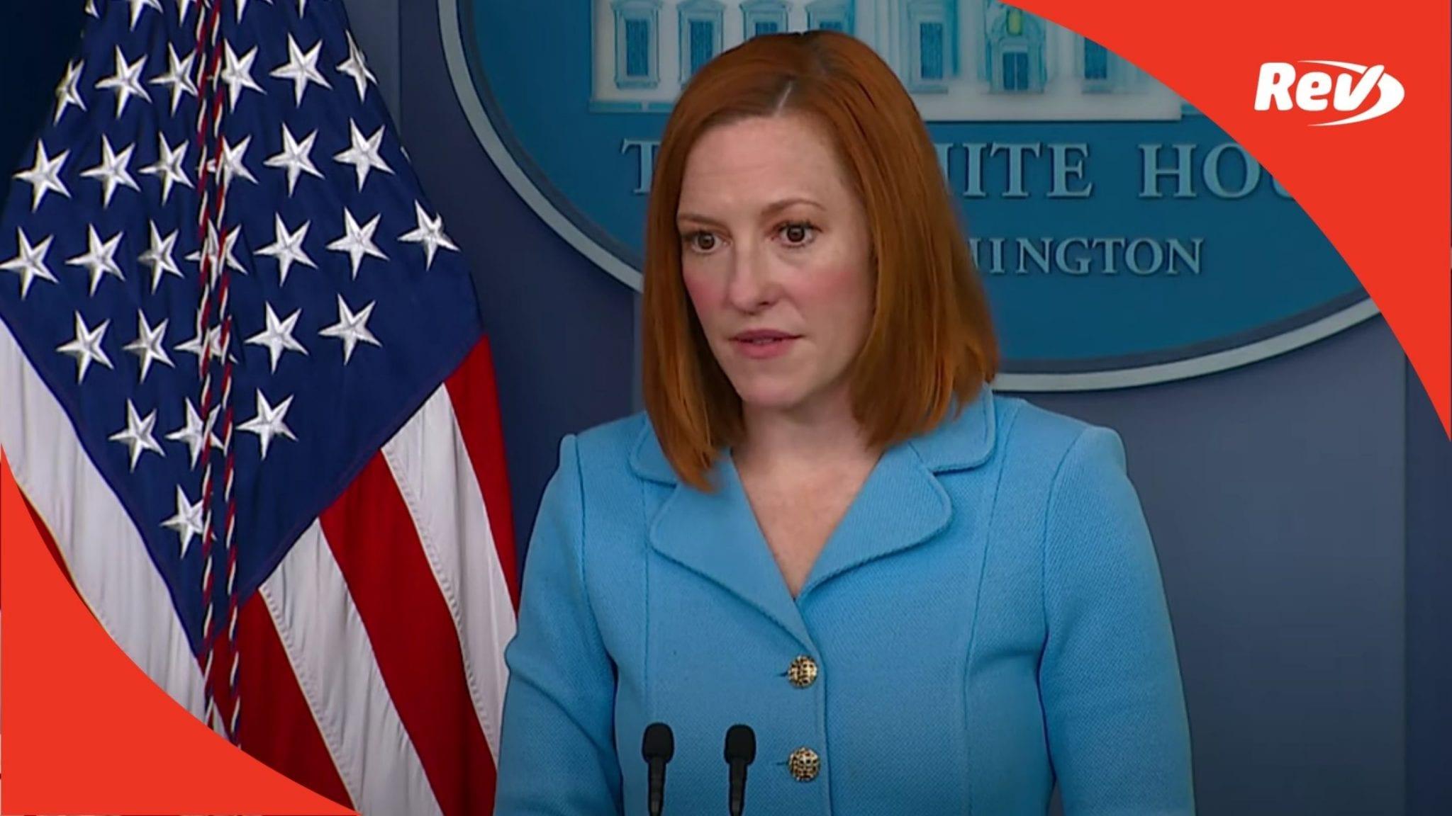 Press Secretary Jen Psaki White House Press Conference Transcript June 2