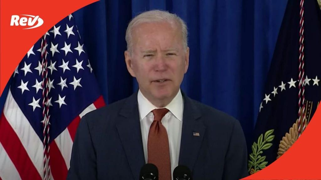 Joe Biden May Jobs Report Briefing Speech Transcript
