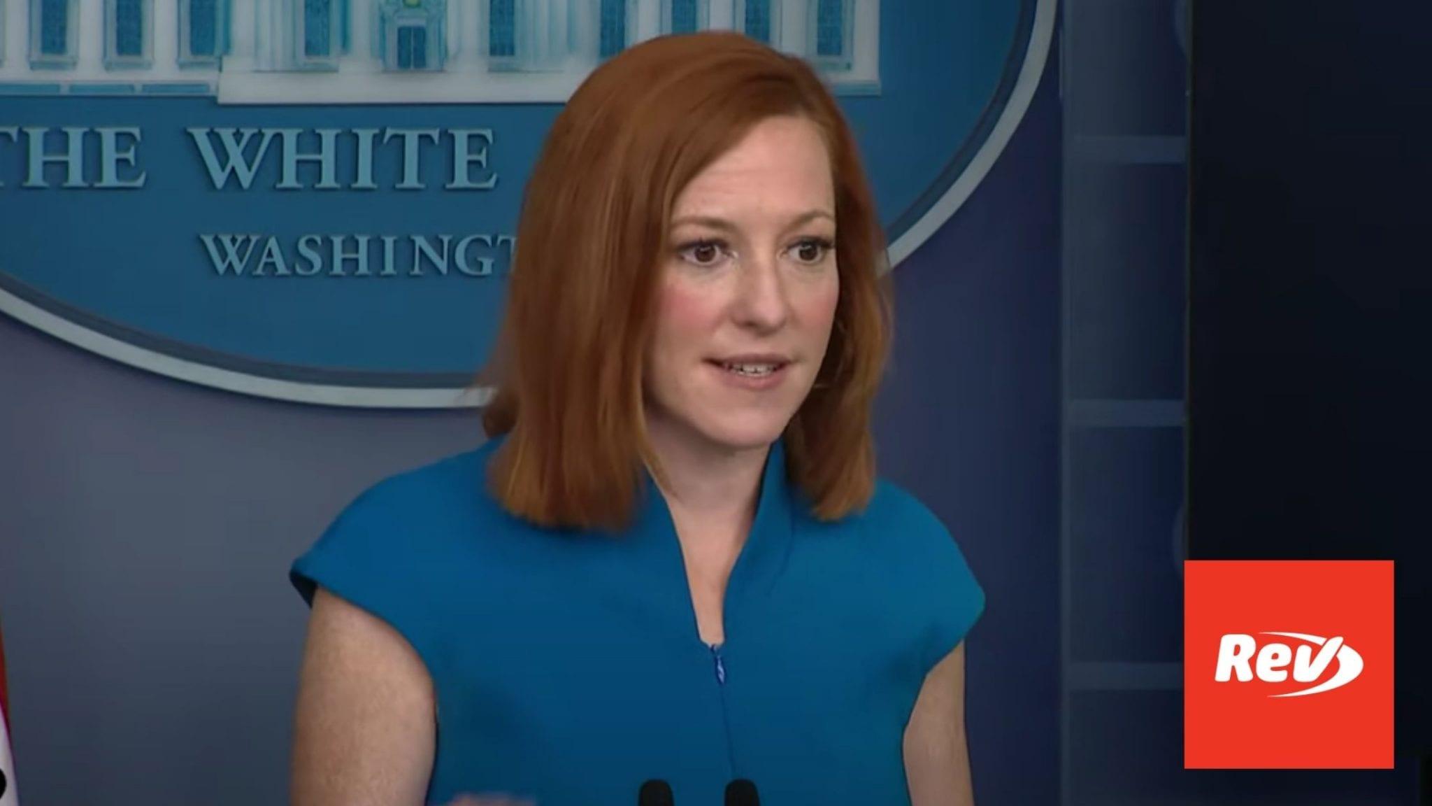 Press Secretary Jen Psaki White House Press Conference Transcript June 4