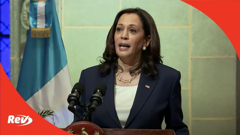 Kamala Harris & Guatemala President Alejandro Giammattei Press Conference Transcript June 7