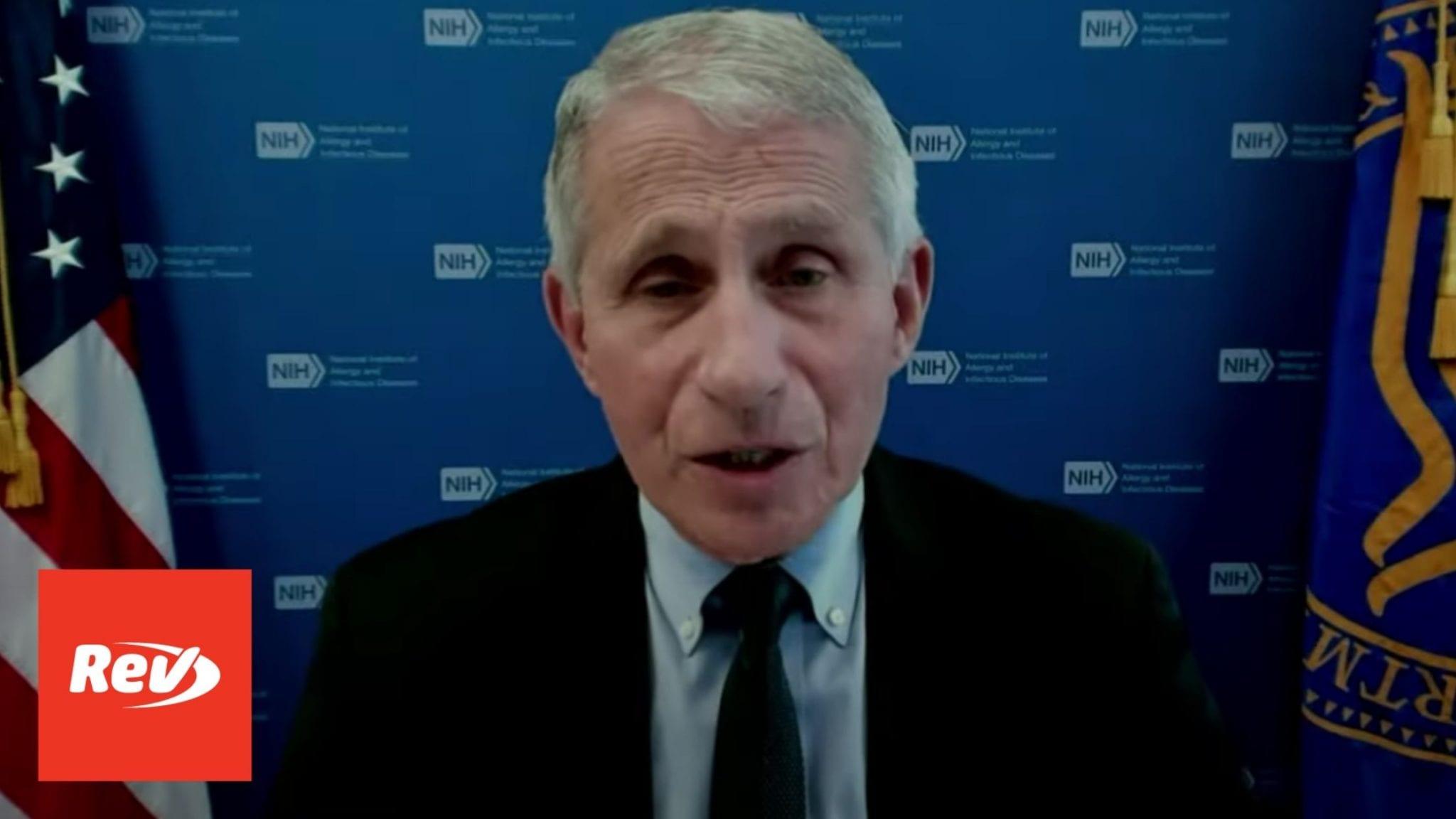 White House COVID-19 Task Force, Dr. Fauci Press Conference Transcript June 8