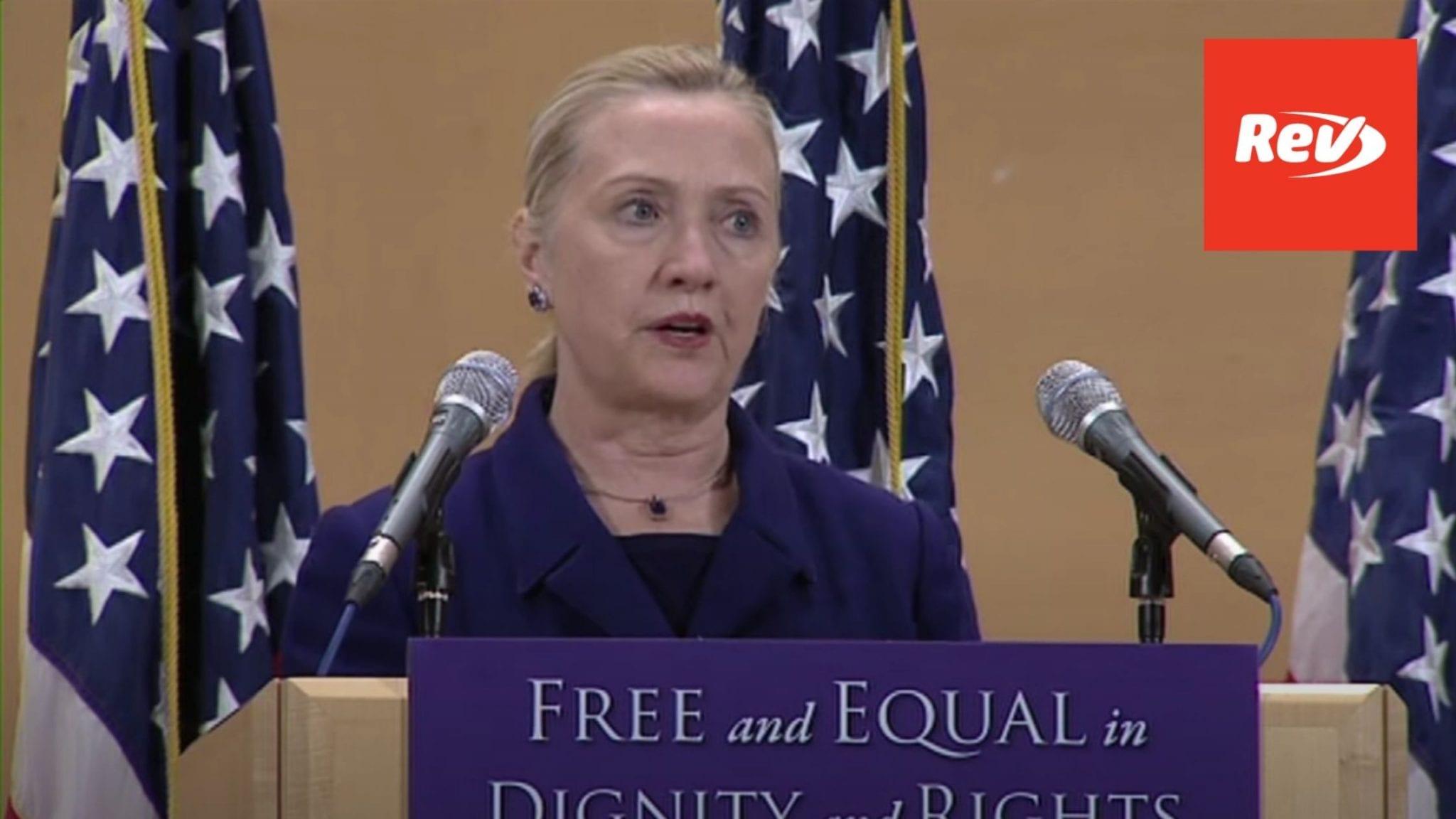 Hillary Clinton LGBTQ Rights Speech Transcript UN 2011