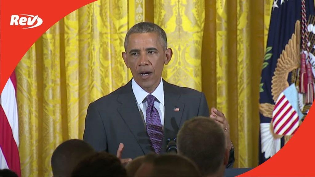 Barack Obama Pride Month Speech Transcript 2016