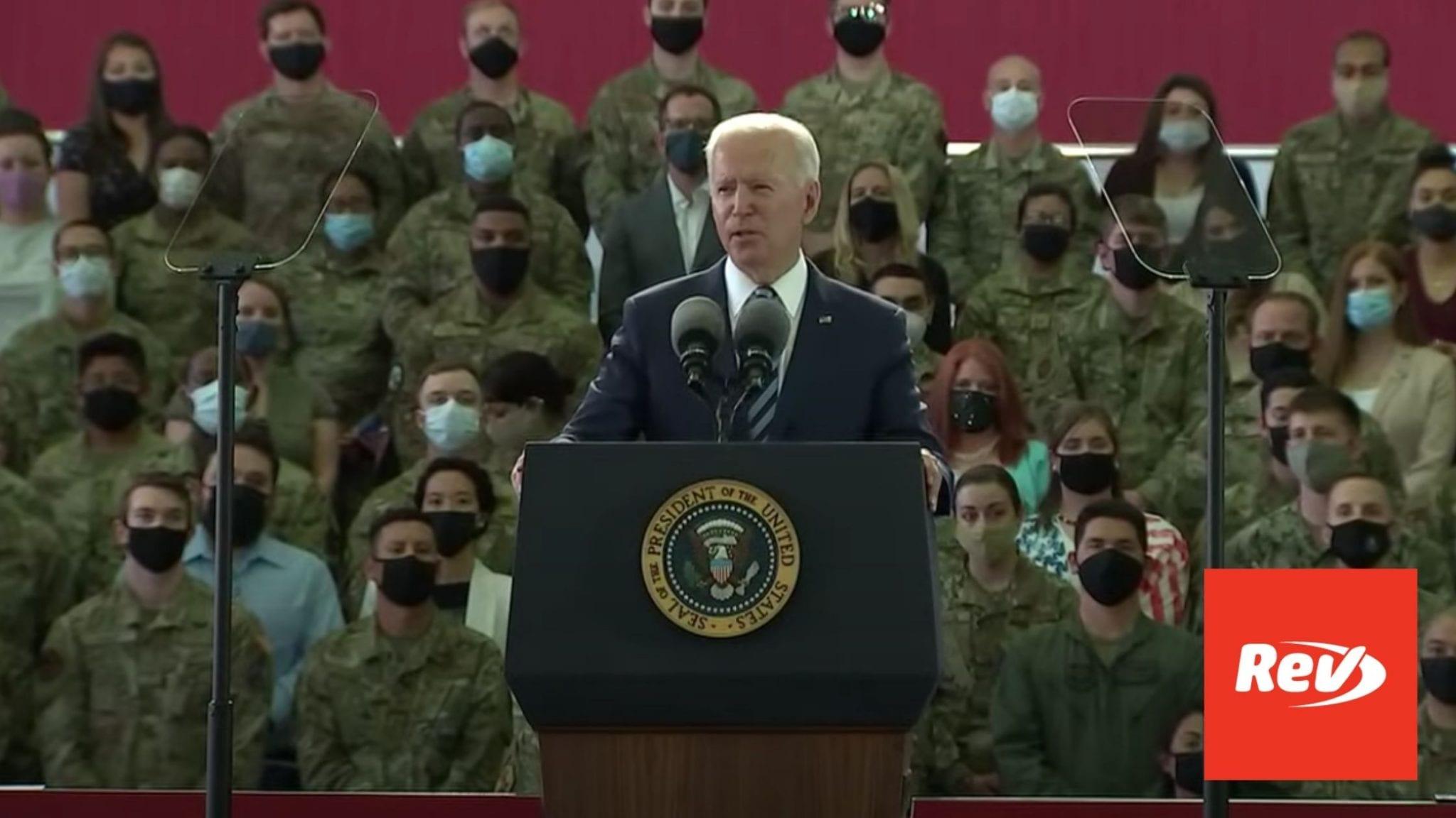 Joe Biden Speech to US Air Force Transcript June 9