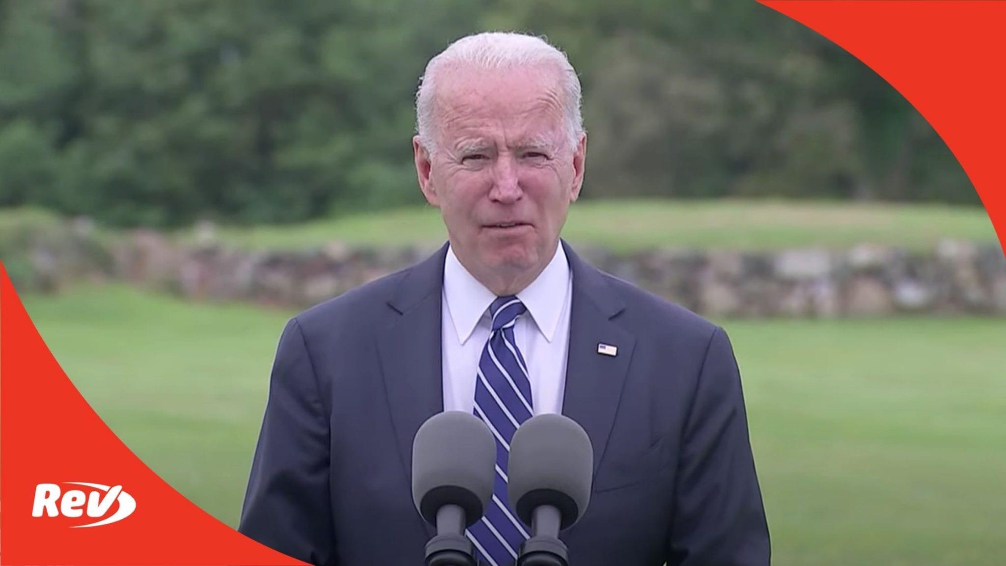 Joe Biden & Pfizer CEO Speech on Global Vaccination Effort Transcript
