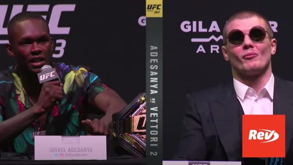 UFC 263 Pre-fight Press Conference Transcript