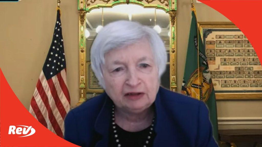 Janet Yellen Testimony on Economic Recovery, 2022 Budget Transcript