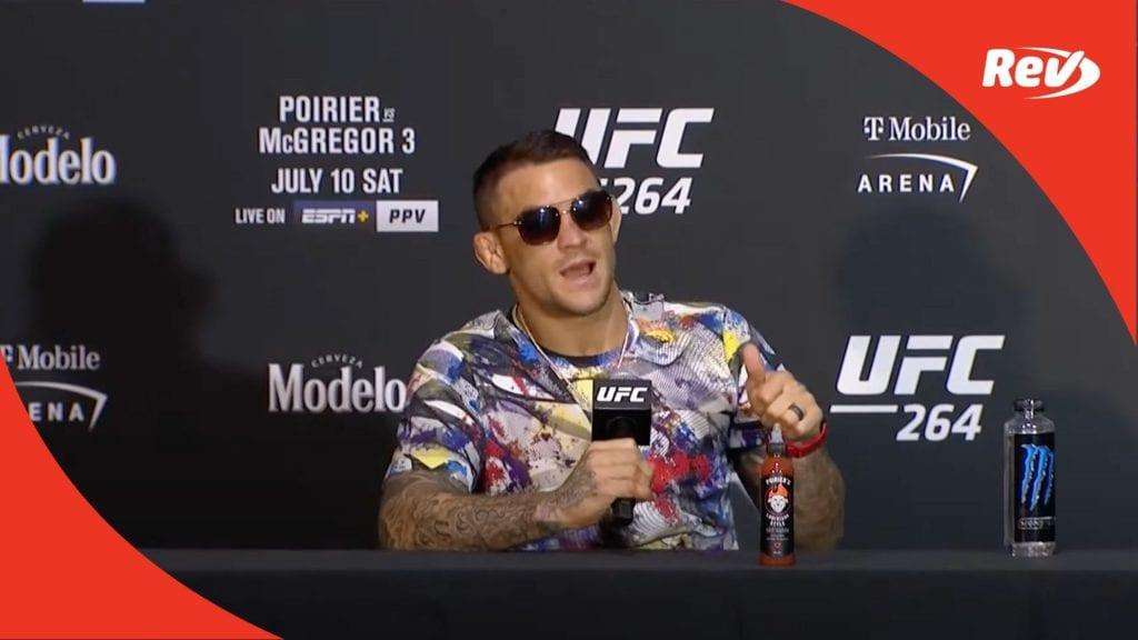 Poirier Press Conference UFC
