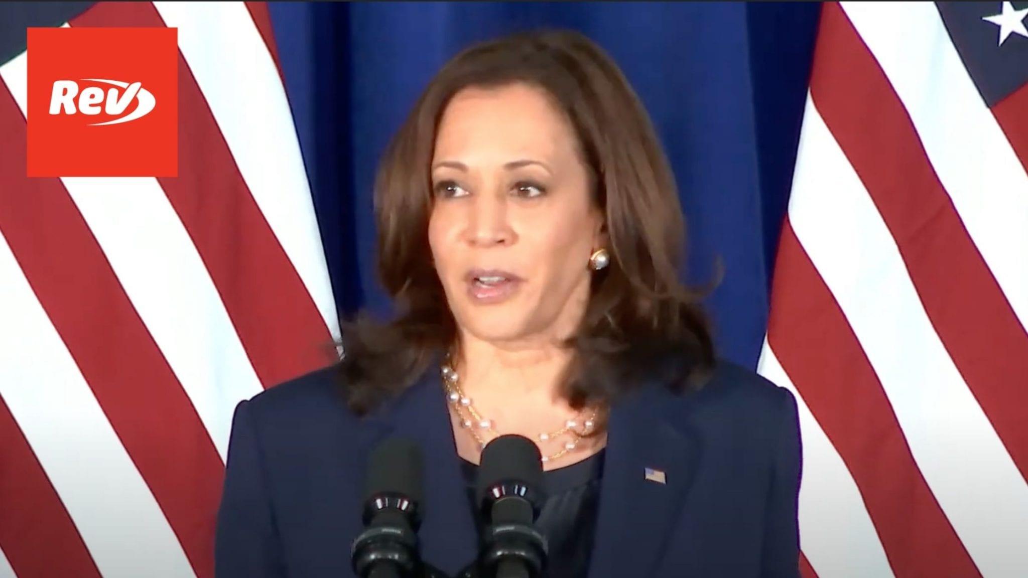 Kamala Harris DNC Voting Rights Speech Transcript July 8