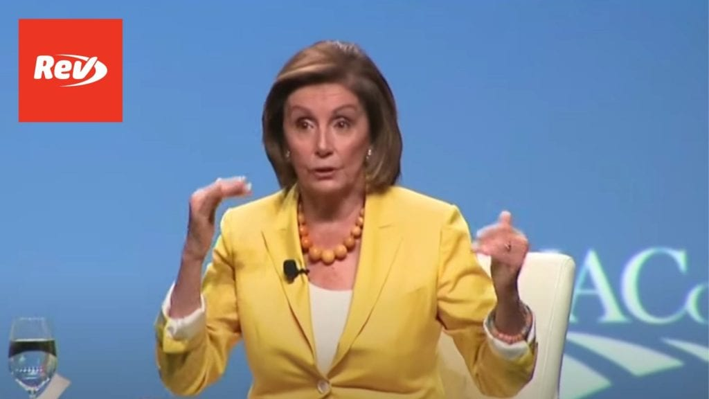 Nancy Pelosi National Association of Counties Conference Transcript