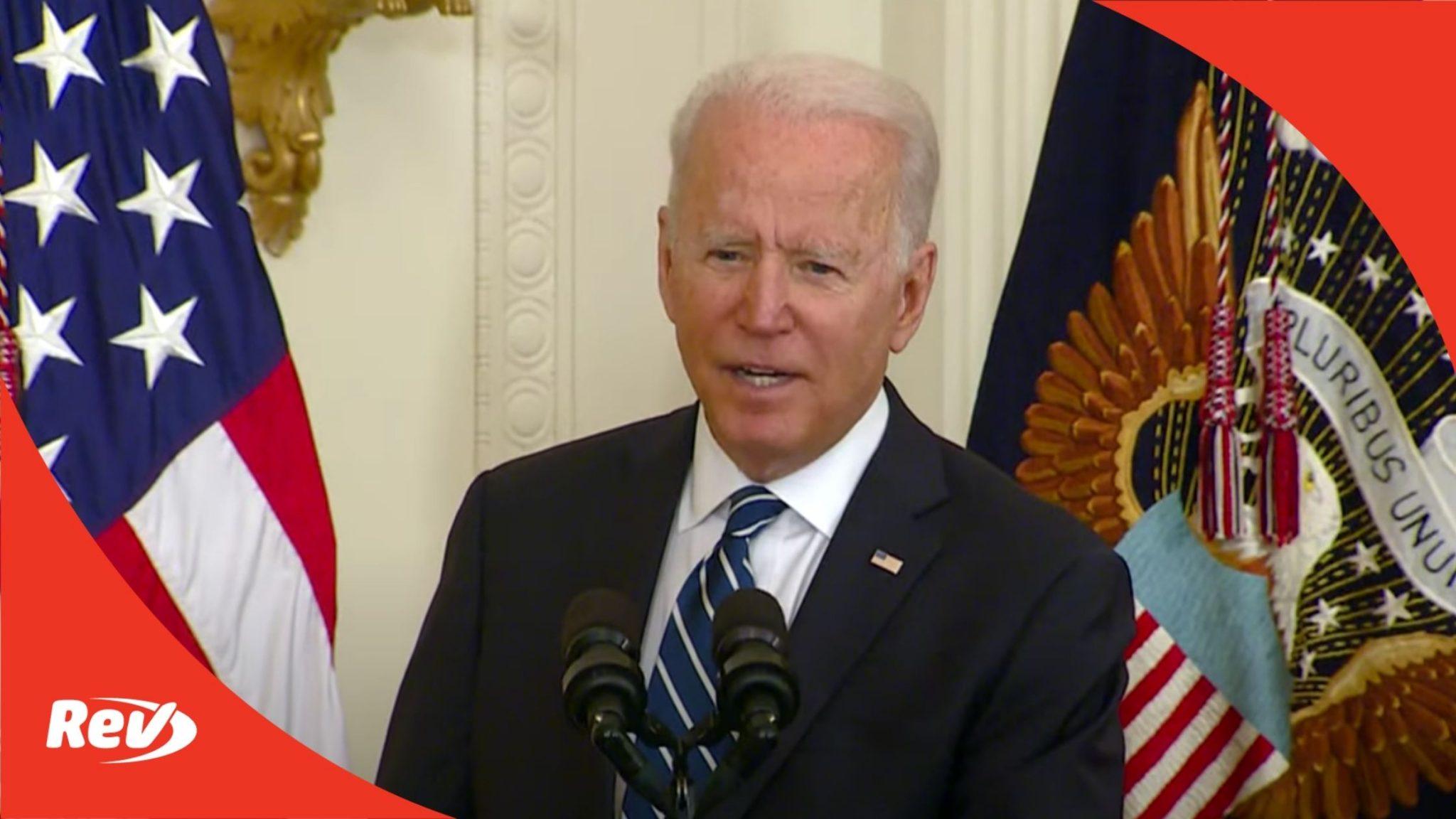 Joe Biden Naturalization Ceremony Speech Transcript July 2