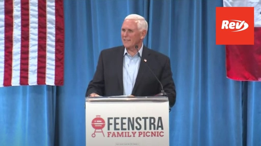 Mike Pence Feenstra Event Speech Transcript Iowa July 16