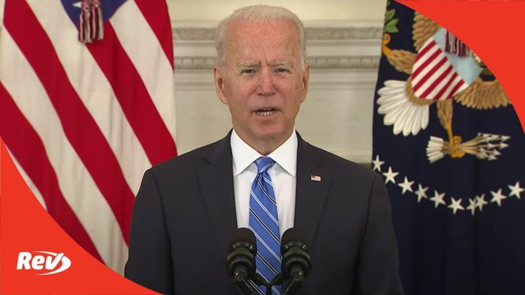 Joe Biden Speech on Economy & American Rescue Plan Transcript July 19