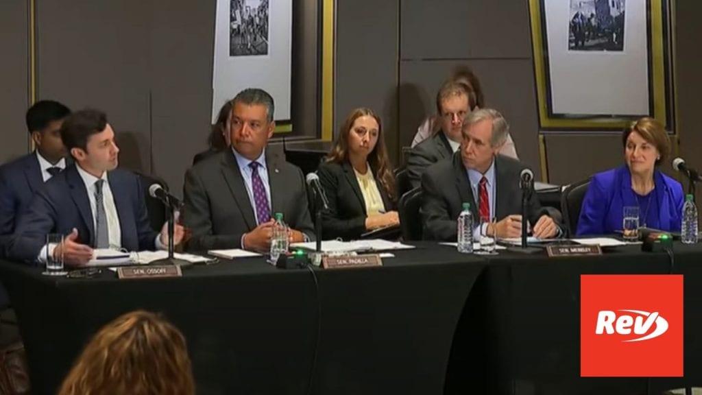 Senate Voting Rights Hearing Transcript Atlanta, GA July 19