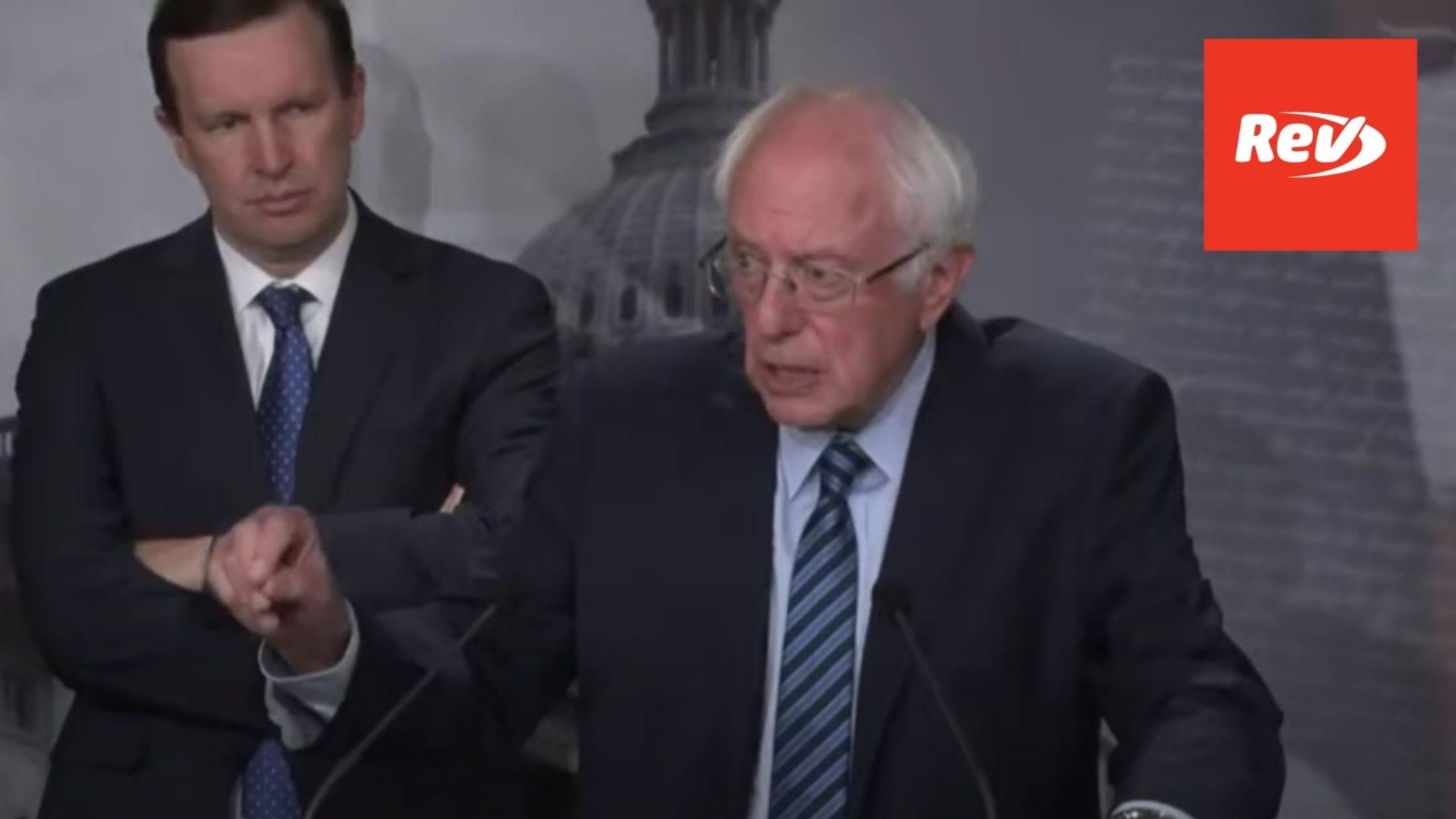 Bernie Sanders, Mike Lee, Chris Murphy National Security Powers Act Press Conference Transcript