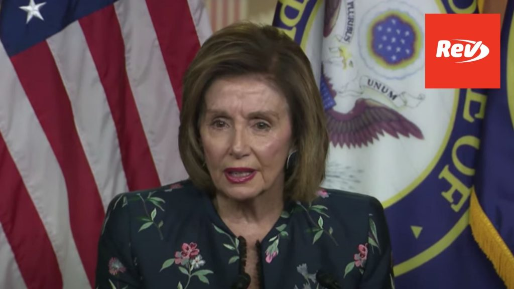 House Speaker Nancy Pelosi Weekly Press Conference Transcript July 22