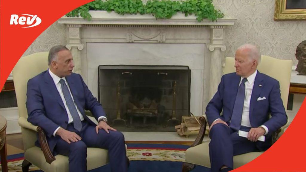Joe Biden & Iraqi Prime Minister Announce End of U.S. Combat Mission in Iraq Briefing Transcript