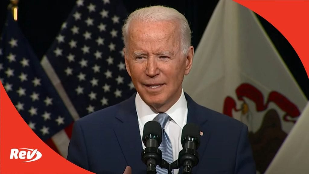 Joe Biden Infrastructure Speech Transcript Crystal Lake, Illinois July 7