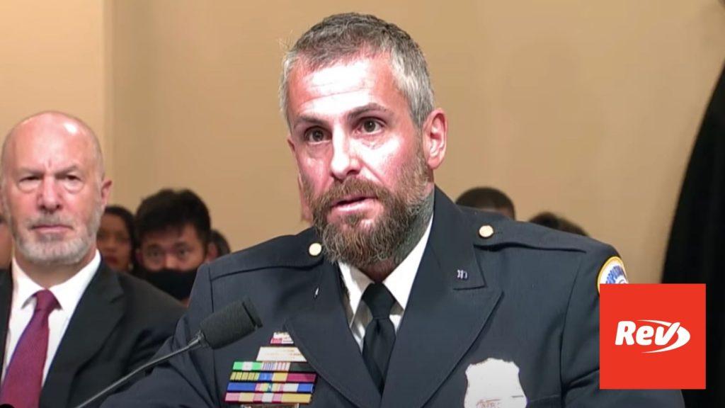 Officer Michael Fanone Testimony Transcript: House Investigation of January 6