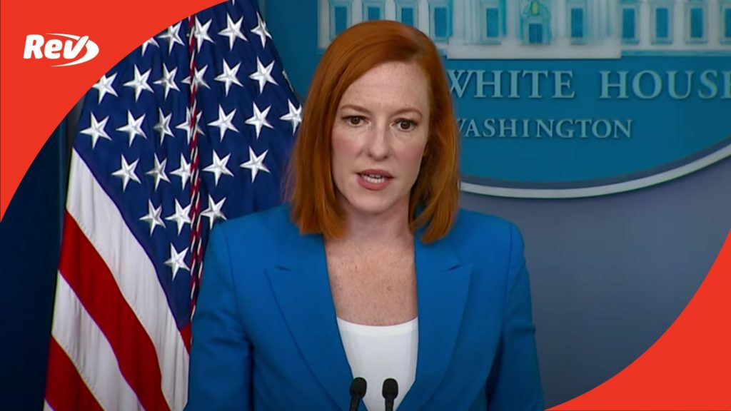 Press Secretary Jen Psaki White House Press Conference Transcript July 27