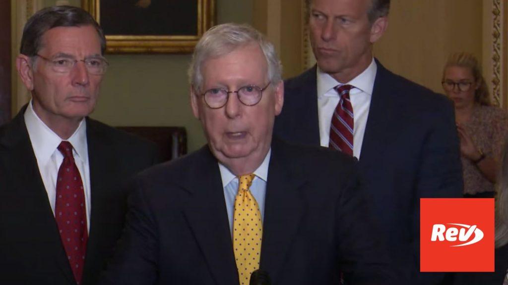 Mitch McConnell, Senate GOP Press Conference Transcript July 27