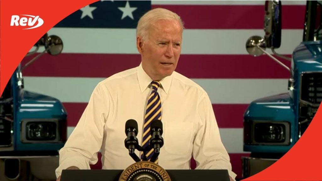 Joe Biden American Manufacturing Speech Transcript July 28