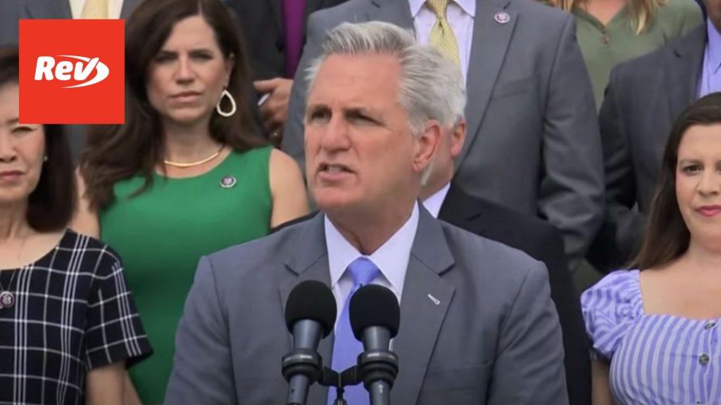 "Kevin McCarthy, House GOP Press Conference Transcript: ""Fire Nancy Pelosi"""