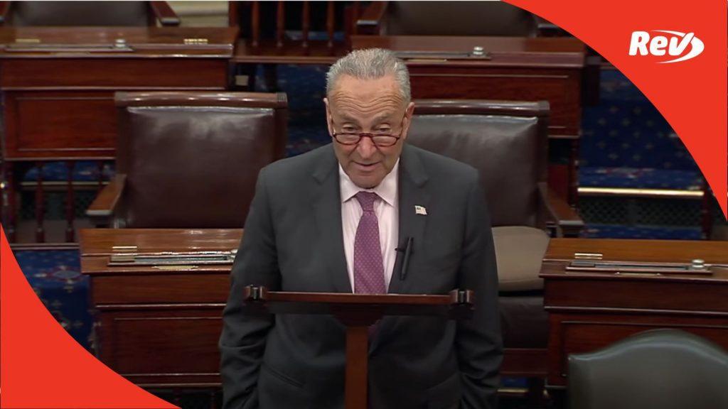 Chuck Schumer Bipartisan Infrastructure Bill Speech Transcript July 29