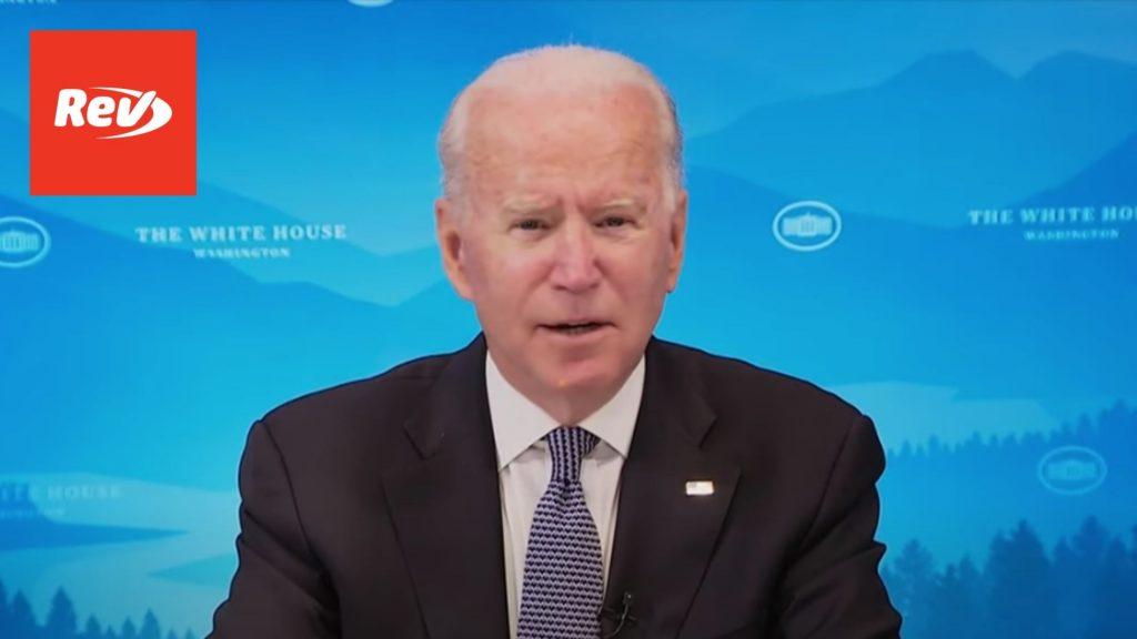 Joe Biden & U.S. Governors Briefing on Wildfires Transcript July 30