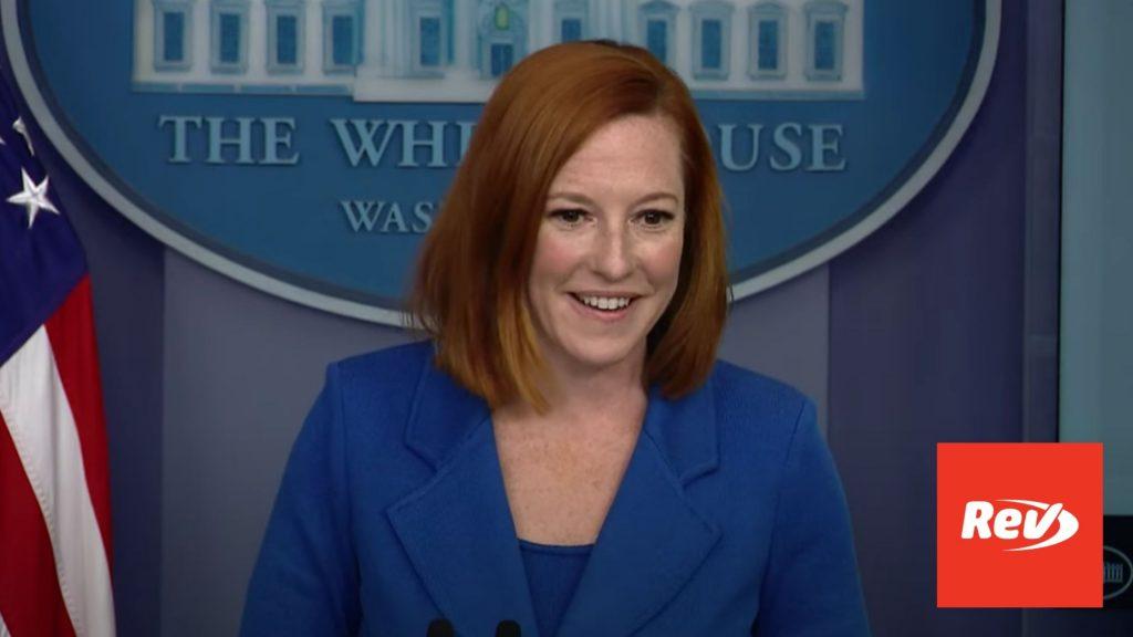 Press Secretary Jen Psaki White House Press Conference Transcript August 2