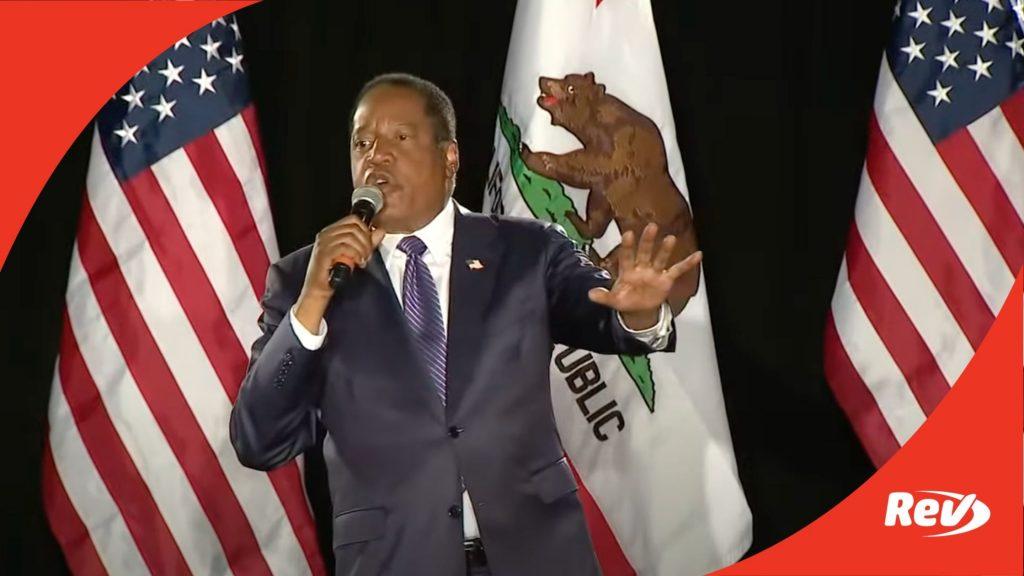 Larry Elder Speech California Recall
