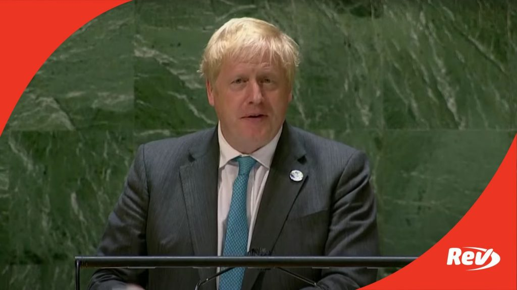 UK Boris Johnson UN General Assembly Speech Transcript
