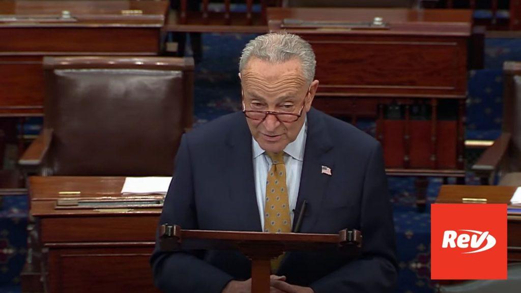Chuck Schumer Debt Ceiling Senate Floor Speech Transcript