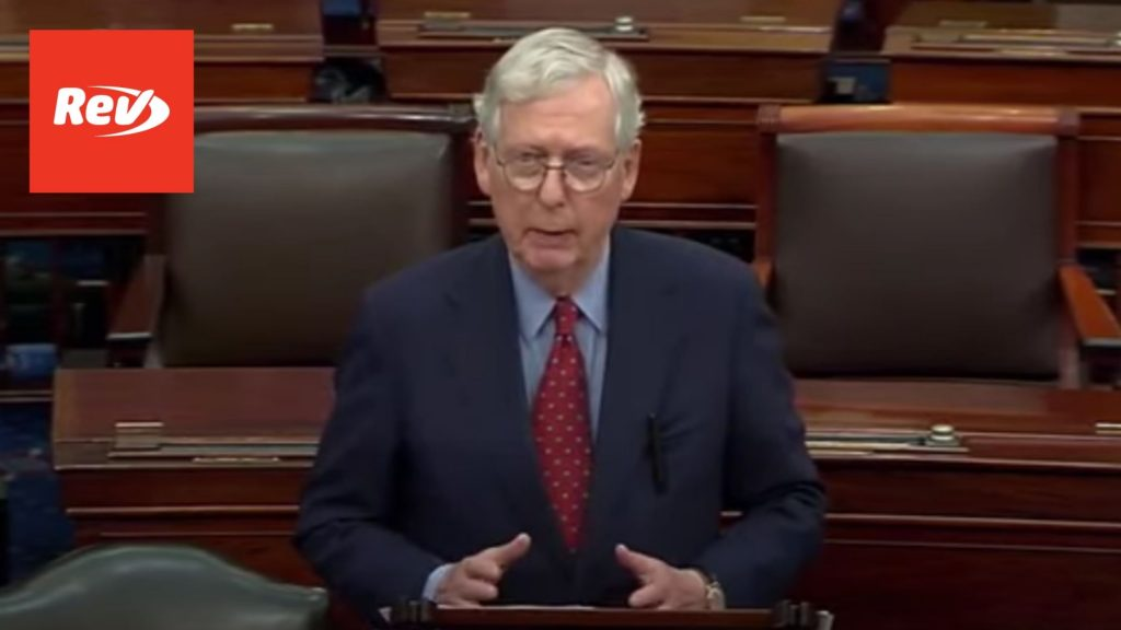 Mitch McConnell Debt Ceiling Senate Floor Speech Transcript