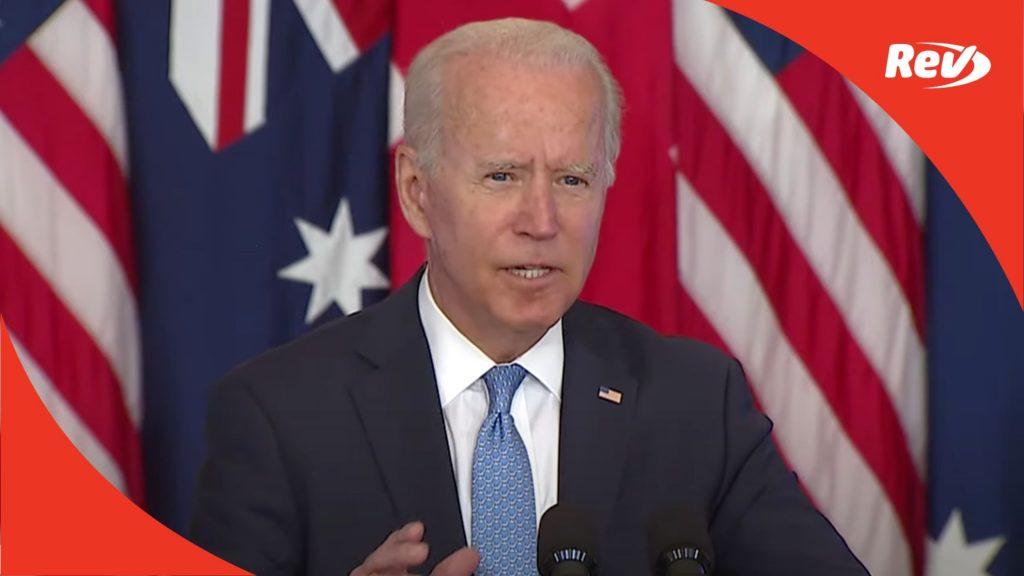 Joe Biden Announces National Security Initiative Speech Transcript