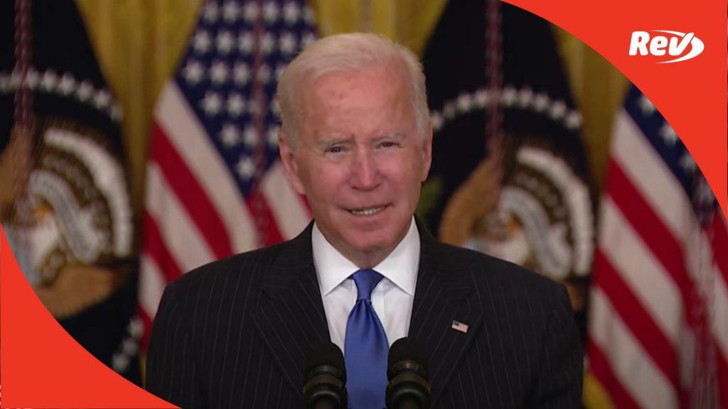 Joe Biden Addresses Supply Chain Bottlenecks Speech Transcript October 13