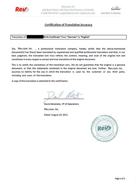 Translate german certified documents rev for Translation german farcical